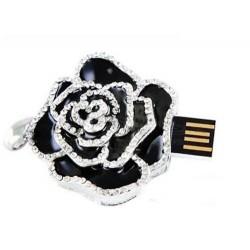 Květina černá s kamínky 2GB