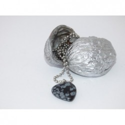 Srdce-kámen-obsidián, s...