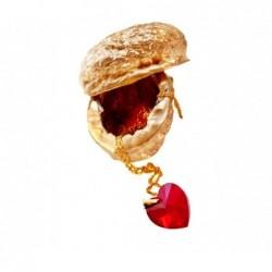 Swarovski-srdce červené