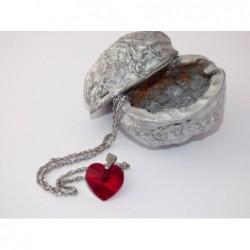 Swarovski-srdce červené malé
