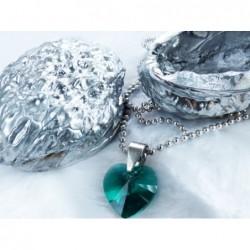 Swarovski - Srdce zelené, malé