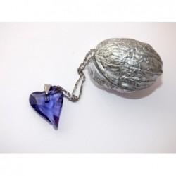 Swarovski-srdce fialové