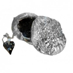 Swarovski-srdce kouřové sklo