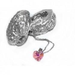 Swarovski - Srdce růžové, malé