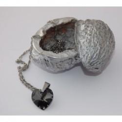 Swarovski-srdce černé malé