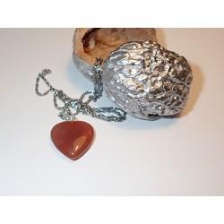 Srdce kámen Karneol na řetízku