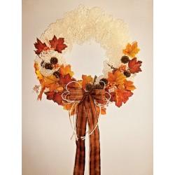"""Jutový věnec -  ,,Podzim"""""""