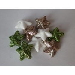 Dekorační hvězdička - Gliter