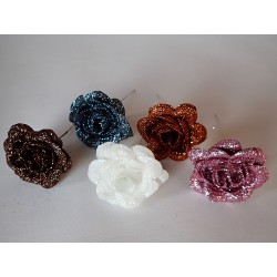 Dekorační růžička - Gliter
