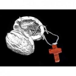 křížek červený jaspis