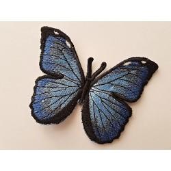 Dekorace modrý Motýl - Morpho