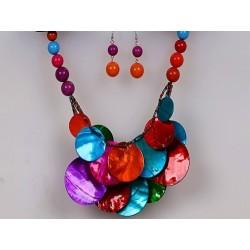 Náhrdelník barevný perleť