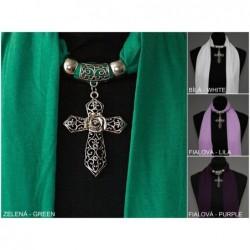 """Šátek se šperkem - ,,Křížek"""""""