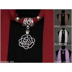 """Šátek se šperkem - ,,Růže"""""""