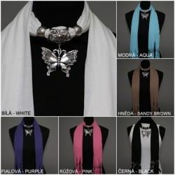"""šátek se šperkem - ,,Motýl"""""""